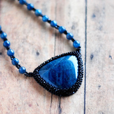 Apatite Embroidered Necklace