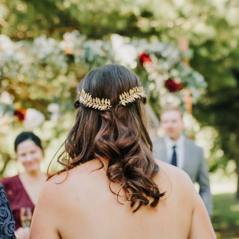 Gold Leaf Bridal Headpiece