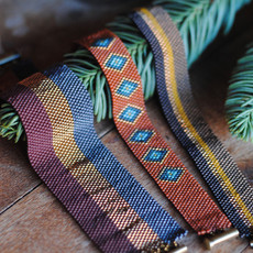 Hand Woven Peyote Stitch Bracelets