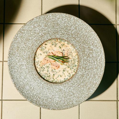 Сливочный финский суп с лососем