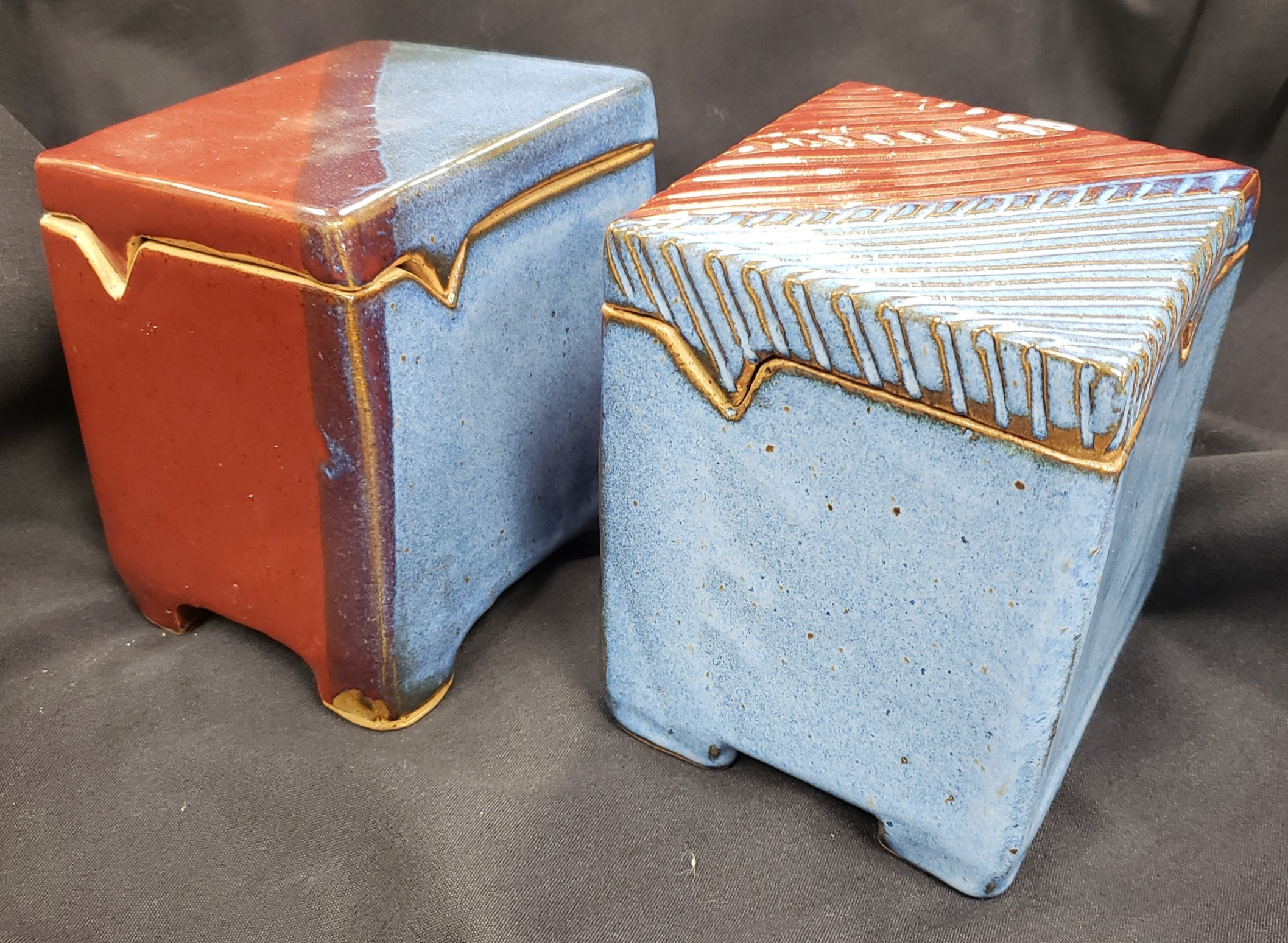 Stoneware Canisters by Ann Gleason