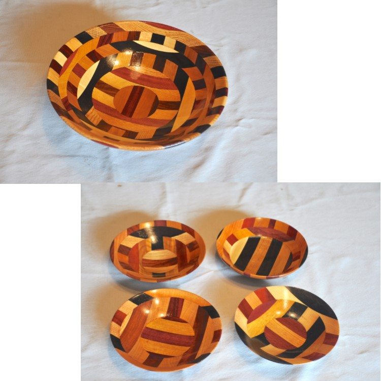 Small and Medium Wooden Bowl Set