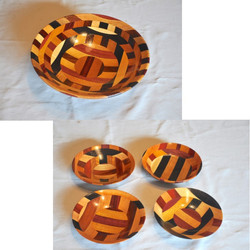 Small and Medium Wooden Bowl Set