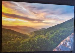 Craggy Pinnacle at Sunset Print