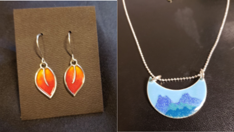 Ignite Jewelry Pendant and Earrings