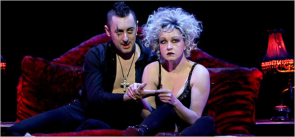 Cyndi Lauper and Alan Cumming
