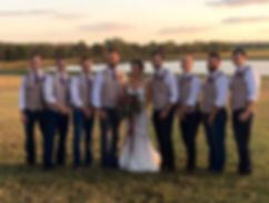 The beautilful bride with her Groomsmen at this Bohemian Wedding