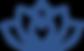 Yoga Heart Nuuk Logo, Heart Only - Blue.