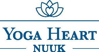 Yoga Heart Nuuk - Blå Gennemsigtig Logo.