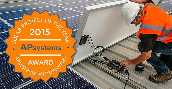 APS Solar Installer, AP Systems, Award