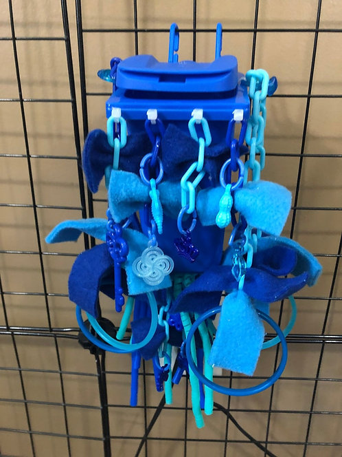 Blue Sugar Glider Trash Can Cage Toy