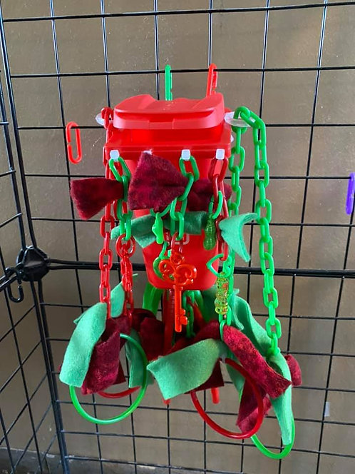 Red Sugar Glider Trash Can Cage Toy
