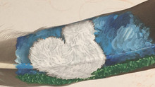 Why paint on feathers?