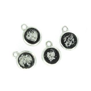 Black ash glass pieces
