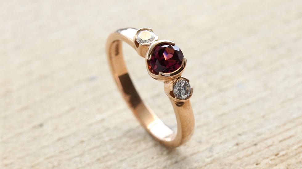 Rose Gold Trilogy Ring
