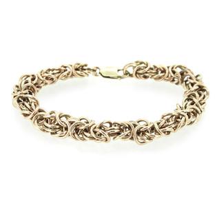 Linda's rose gold byzantine bracelet