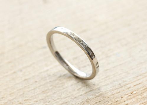 Baguette Diamond Ring Wedding Rings Tyne and Wear Dytham