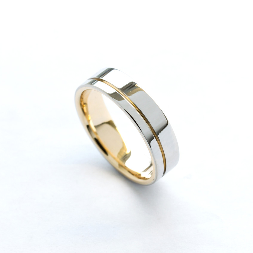 Mixed Metal Wedding Ring