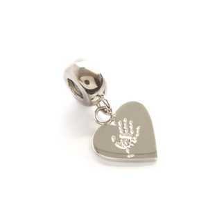 Handprint engraved charm