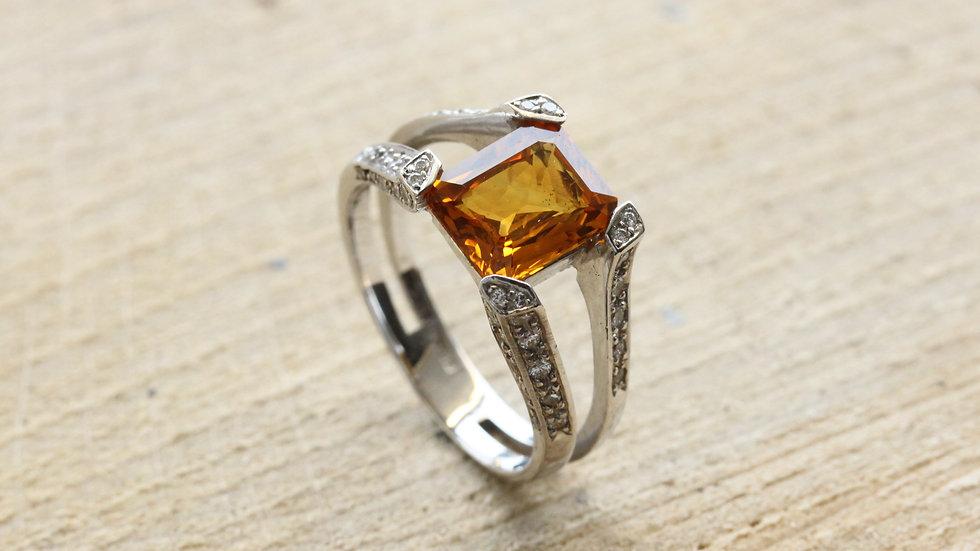 Madagascan Sapphire Engagement Ring