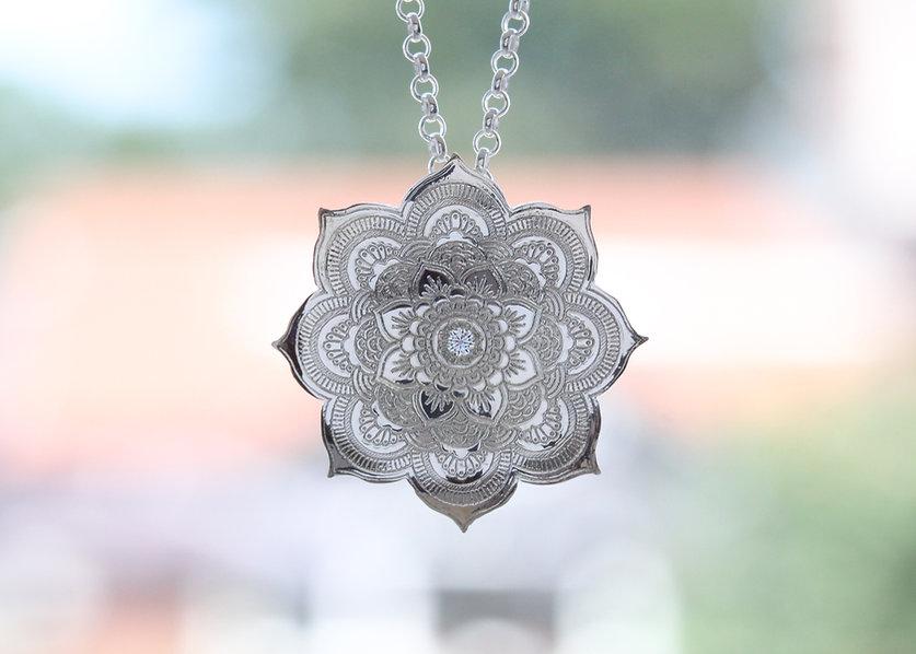 boho style bespoke handmade pendant