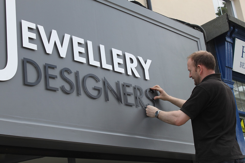 Shop Sign Fitting