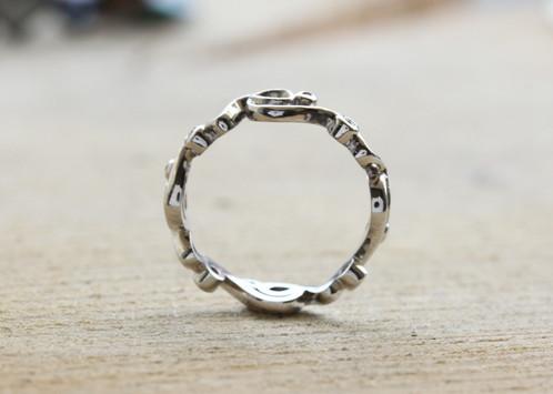 Modern Antique Wedding Ring Dytham Bespoke Jewellery Engagement