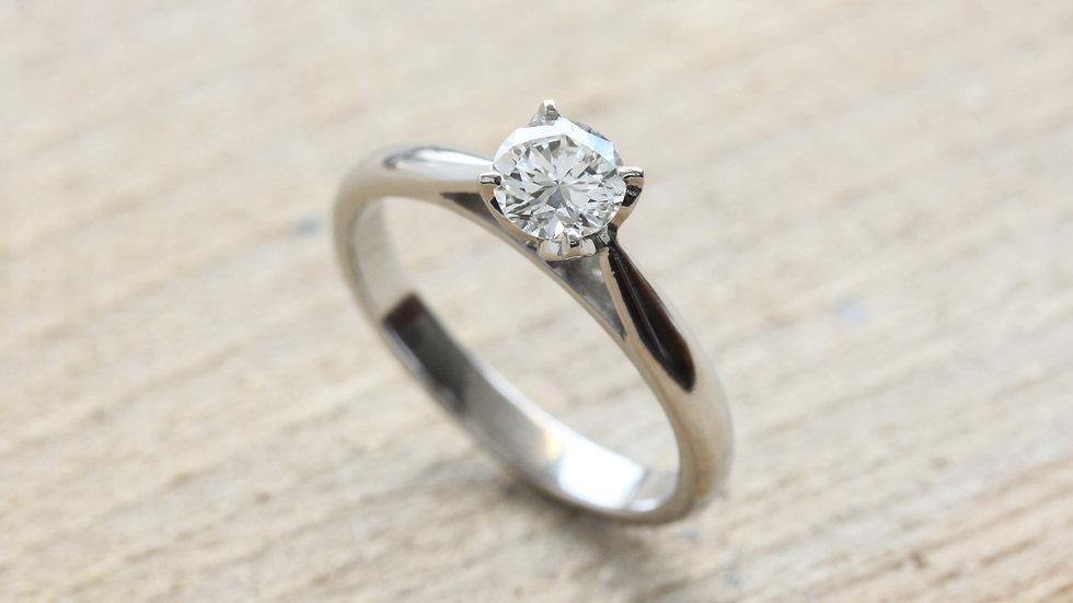 Petal Inspired Platinum Engagement Ring