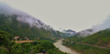 View from Hotel Mandakini Rudraprayag