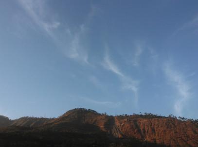 Mountain View From Hotel Mandakini Rudra