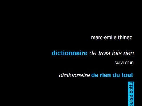Dictionnaire de trois fois rien