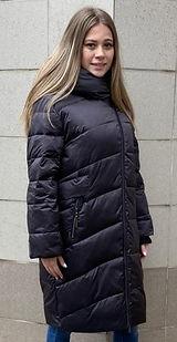 Зимнее пальто на биопухе