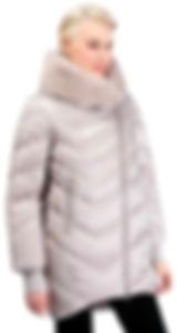 Зимнее пальто на тинсулейте с кроликом