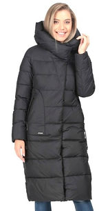 Женское зимнее пальто на биопухе