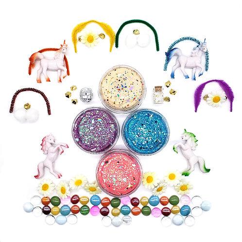 Disco Unicorn Play Set (Dough and Themed Play Kit)