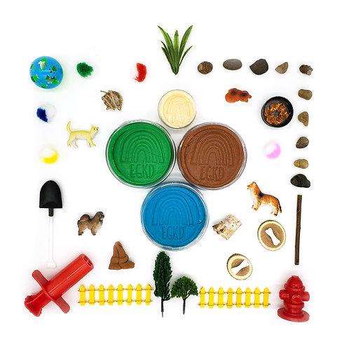 Pet Park Play Set (Dough and Themed Sensory Play Kit)