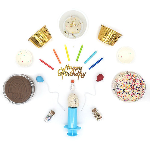 Birthday Cake Play Set (Dough and Play Kit)