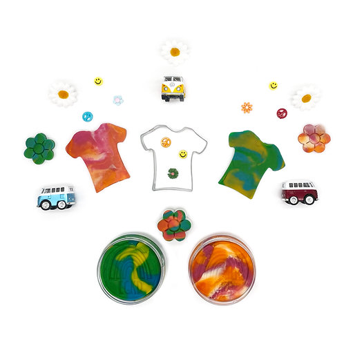 Tie Dye Play Kit (Dough and Themed Play Pieces)