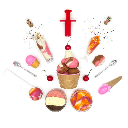 Ice Cream Sweets Shop Play Set (Dough and Themed Play Pieces)