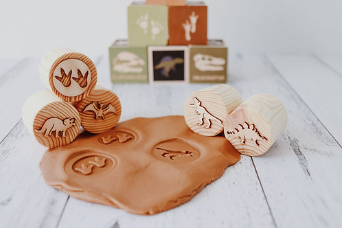 Dinosaurs Wood Stamp Set