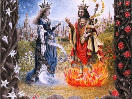 Honoring of the Divine romance and the eternal cycles...