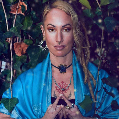 Dr Monet Viloen, (PhD), Jivamukti yoga teacher, integrative life coach, Tribal fusion belly dancer, Tantrika, and the creatrix of Shakti Alchemy Goddess Evolution