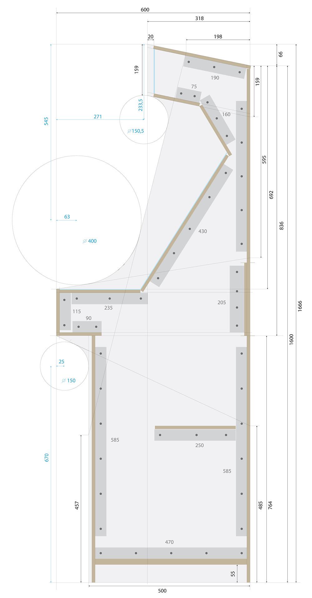 schéma plan pour construction borne d'arcade