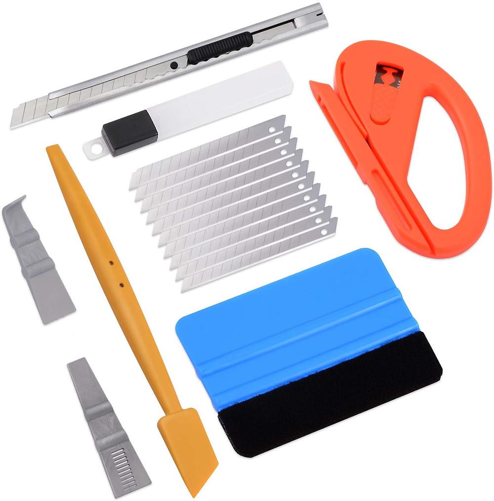 outils pour appliquer vinyle