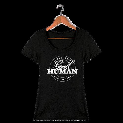 Good Human Logo Women's Black T-Shirt