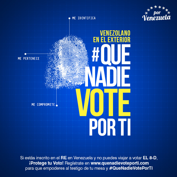"""Campaña """"Que Nadie Vote por Tí"""""""