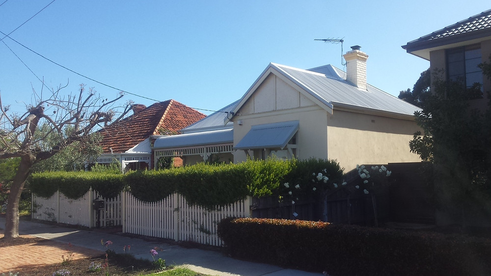 Completed re-roof from front