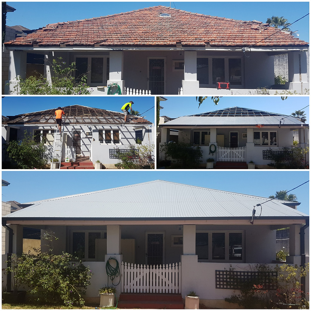 Tile to Colorbond Roof Replacement
