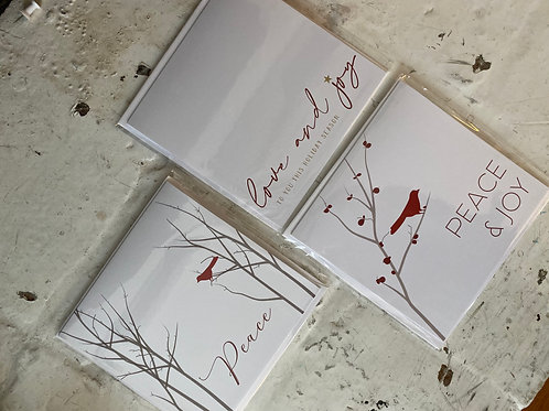 Peace, Love & Joy Square Folded Card Multipack