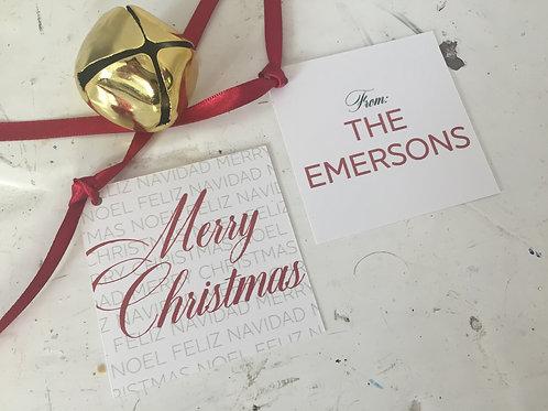 Merry Christmas Gift Embellishment